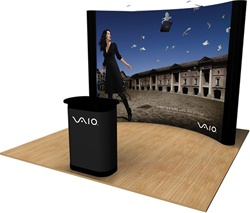 10 foot curved pop up display