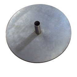 Banner stand steel base plate