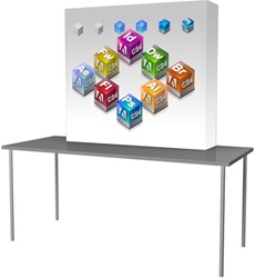 Soft Wall fabric pop-up display table top