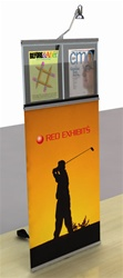 "Top pack graphics/brochure stand holds 24"" x 39.4"""